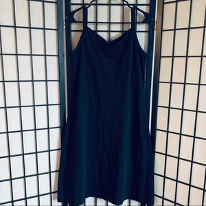Patagonia black tank dress built in bra sz L